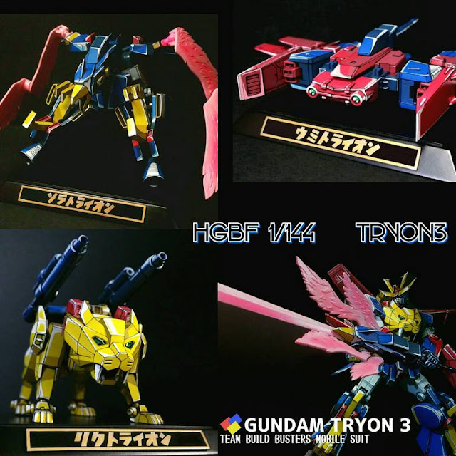 HGBF Gundam Tryon 3 Anime Colors by kogakote
