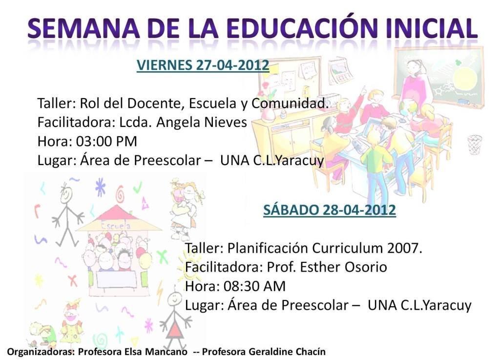 Pin planificacion semana del 14 al 18 de junio 20102 on for Planificacion de educacion inicial