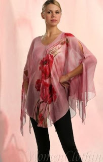 hand painted silk long tunic