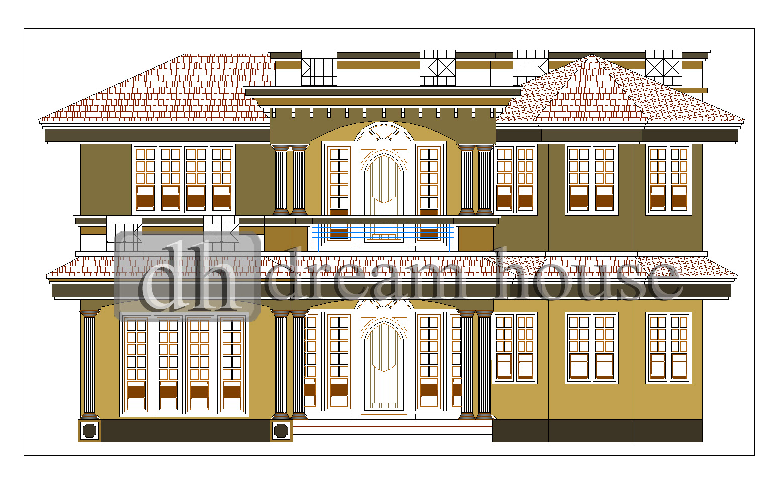 Dream house for residential building plan and elevations for Residential building plan and elevation