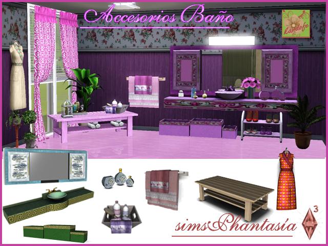 My sims 3 blog bathroom accessories by kardofe for Bathroom decor sims 3