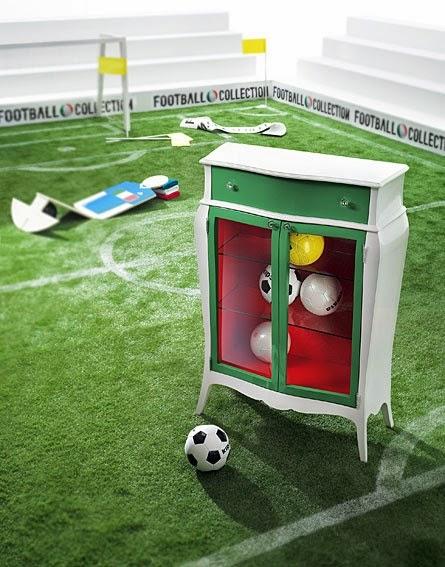 El Mundial de Futbol llega a la decoración Mueble seleccion portugal