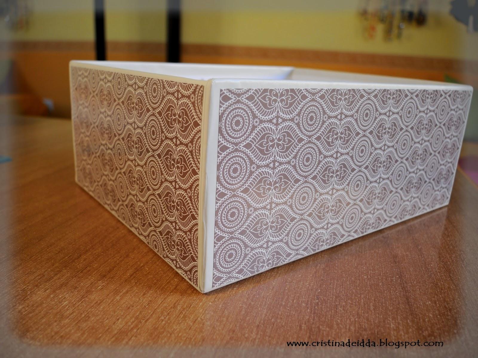 Ricicliamo insieme rivestire una scatola scrappiamo for Rivestire una scatola