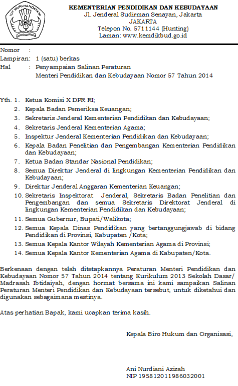 Image Result For Download Permendikbud Ri No Tahun A