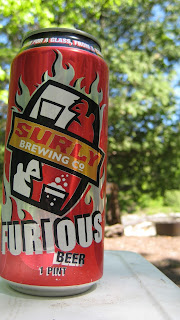 Drinking a Surly Furious IPA up in Northern Minnesota while camping and canoeing.