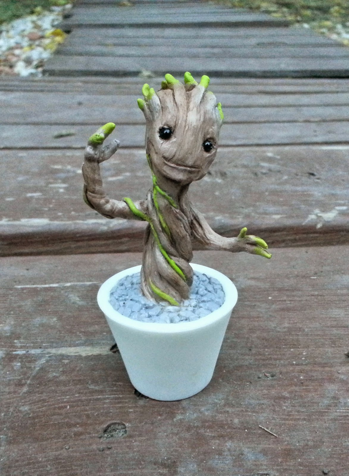 Painted Edition Baby Groot Guardians of the Galaxy Resin Figure by Motorbot