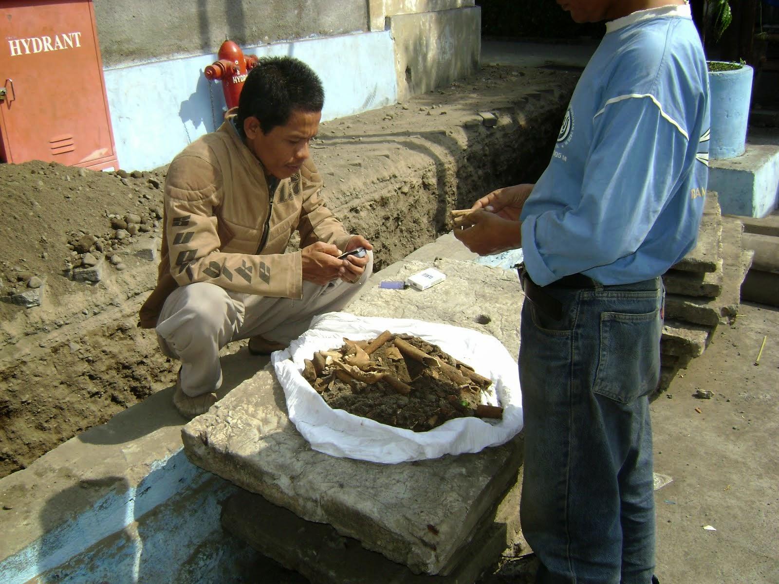 Tulang manusia di lokasi proyek