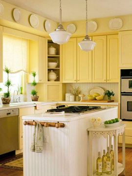 Pretty Bright Small Kitchen Color For Apartment Cabinets For Kitchen Yellow Kitchen Cabinets Design