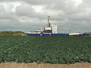Caudrilla drilling rig at Banks in Lancashire