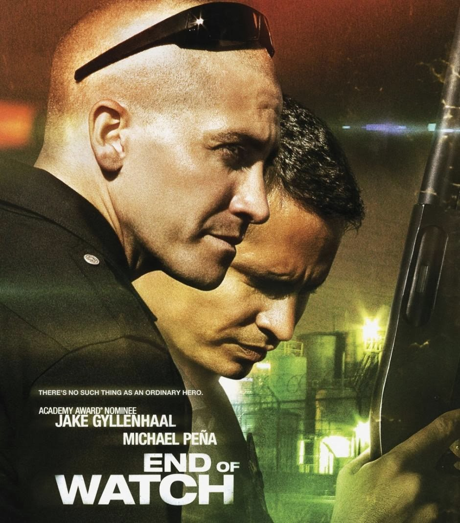Poster Of End of Watch (2012) In Hindi English Dual Audio 300MB Compressed Small Size Pc Movie Free Download Only At 300Mb.cc