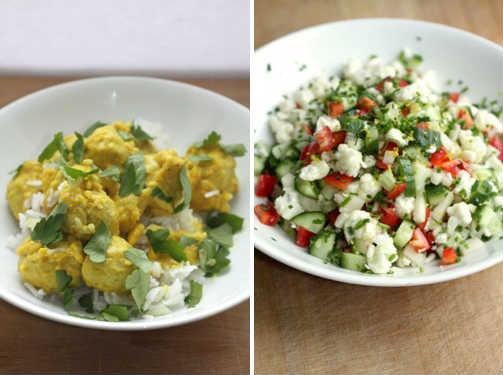salat til boller i karry