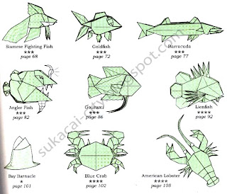 e-book seni melipat kertas Origami Under The Sea