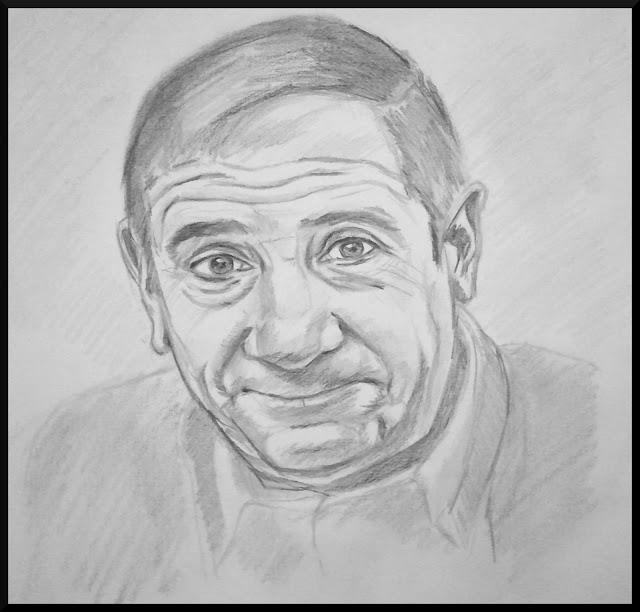 Alfredo Landa. Retrato a Lápiz. Autor: José M. Gallego.