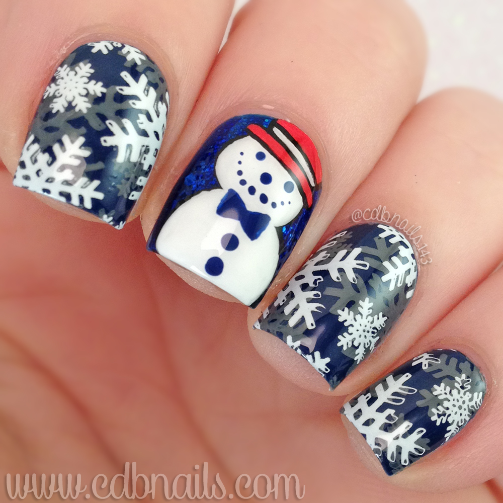 Hand Painted Christmas Nail Art: Cdbnails: Planner Mani Wednesday