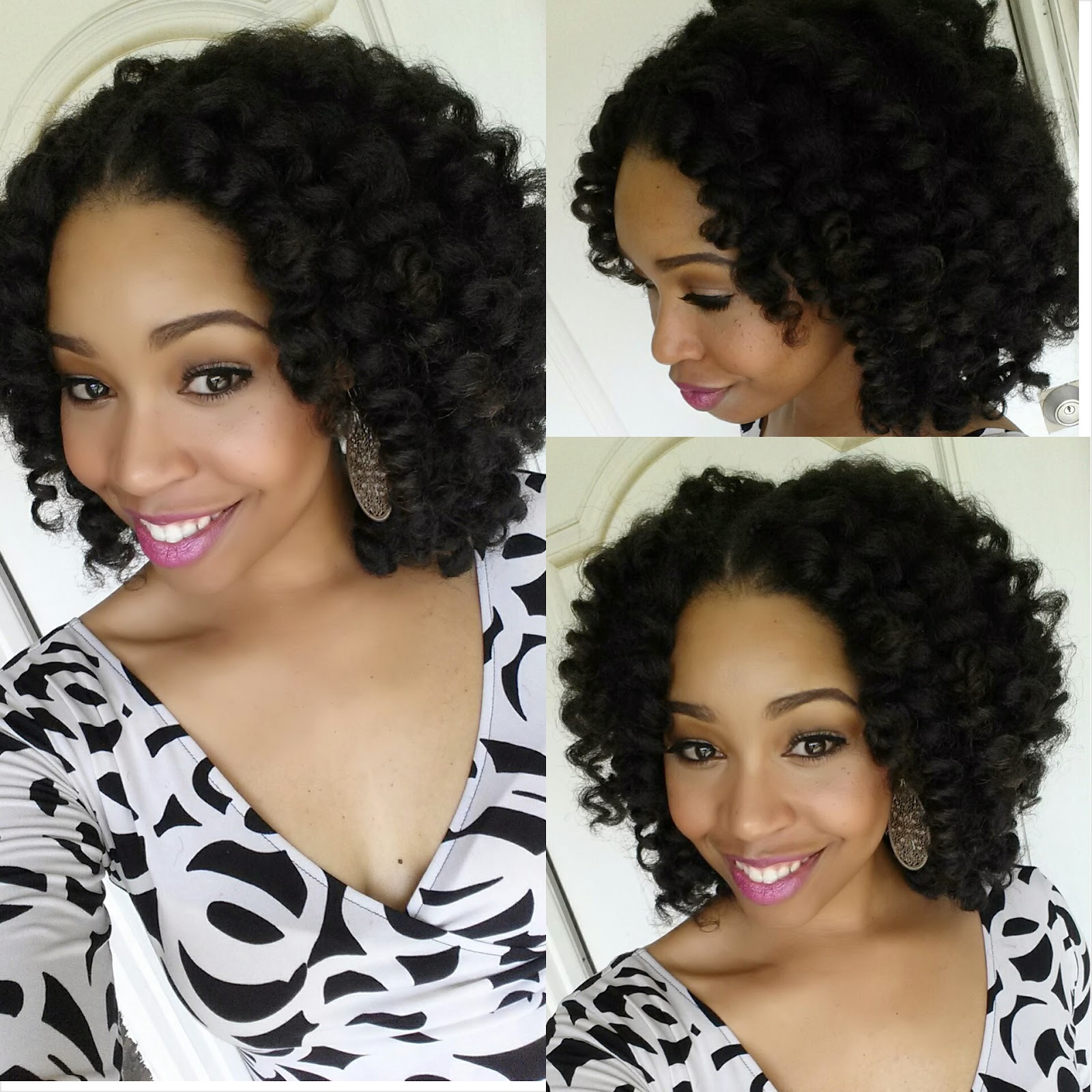 with natural hair Crochet braids