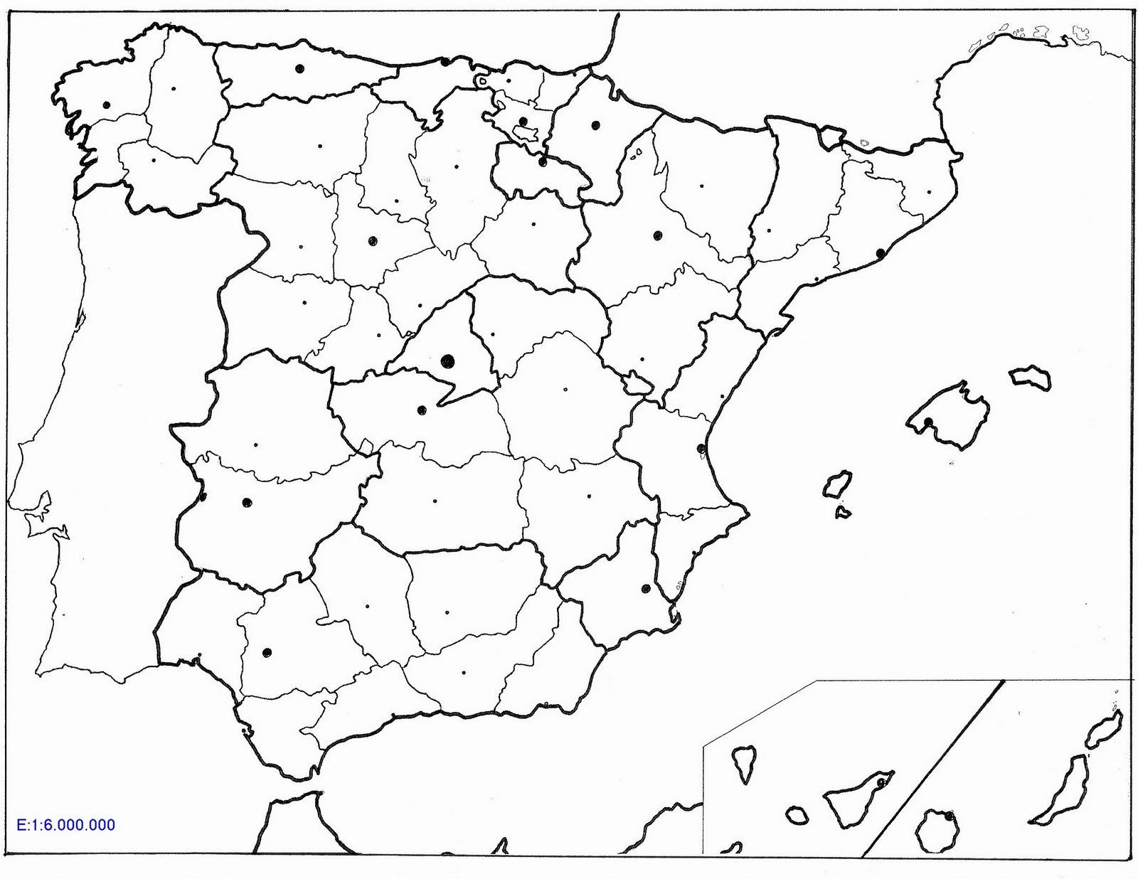 Mapa de España para imprimir