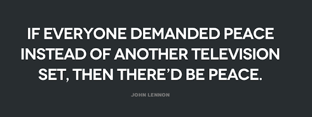 John Lennon quote for peace