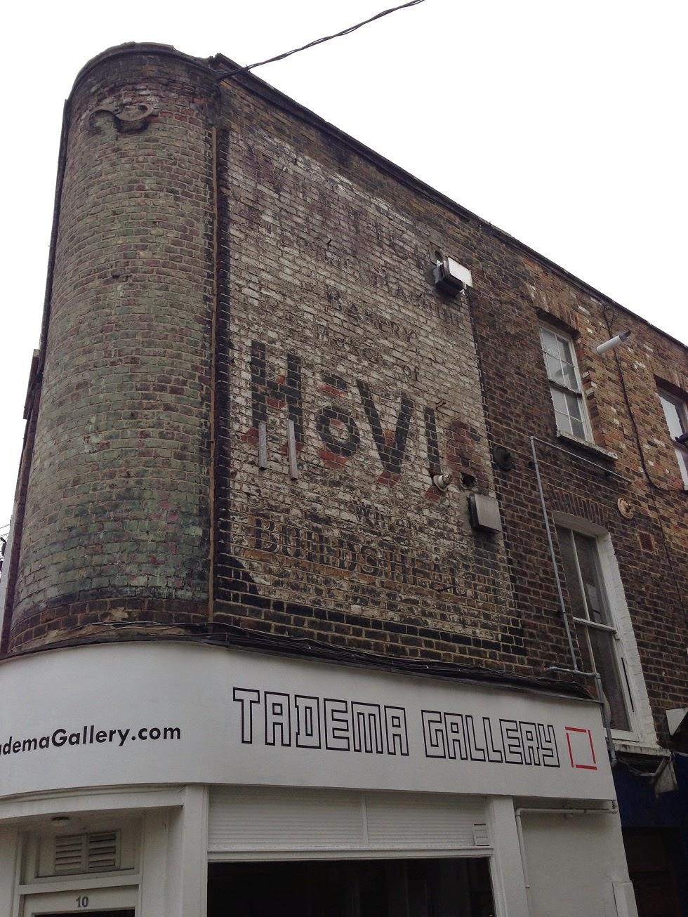 Ghost sign, Islington, London