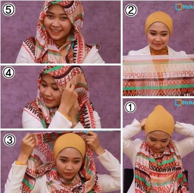 Cara Memakai Hijab Simple
