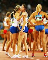 Athletic women`s calves
