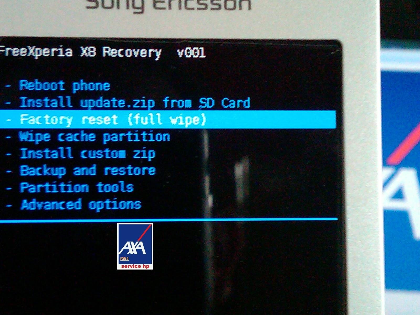 tutorial hard reset xperia e15i