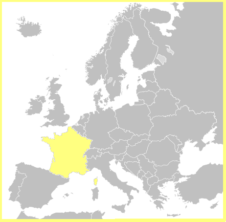 Mapa Francia Europa