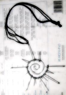 La mia arte sull'Arte (bisticcio di parole solo apparente) Ciondolo-in-acciaio
