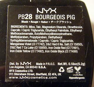 NYX Bourgeois Pig Blush
