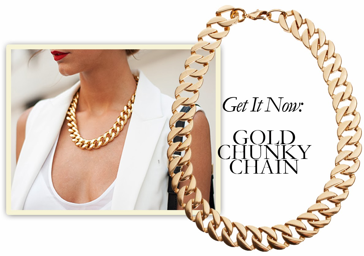 Get It Now: Gold Chunky Chain