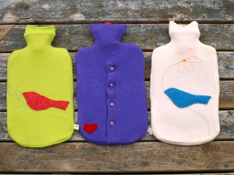 By Hook & Thread: Hot Water Bottle Covers