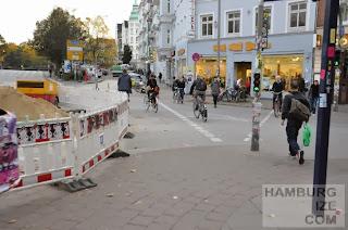 Schanzenstraße / Schulterblatt - Baustelle