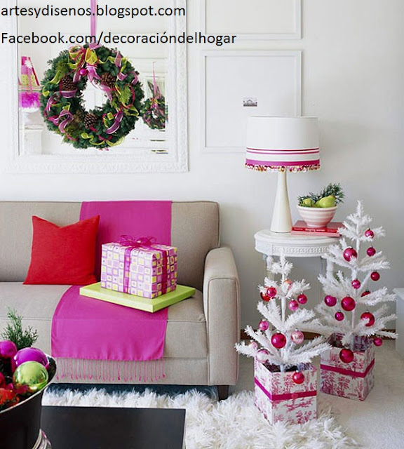 IDEAS PARA DECORAR SALAS EN NAVIDAD by artesydisenos.blogspot.com