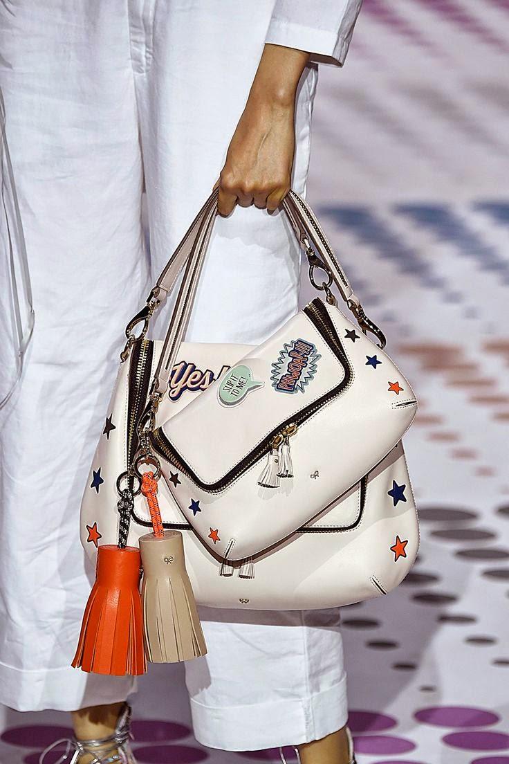 Moda -Tendências 2015 Malas e duplas malas com apliques e outros adereços