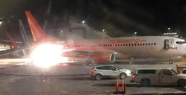 Τορόντο: Η στιγμή που πιάνει φωτιά φτερό αεροσκάφους έπειτα από σύγκρουση με άλλο (βίντεο)