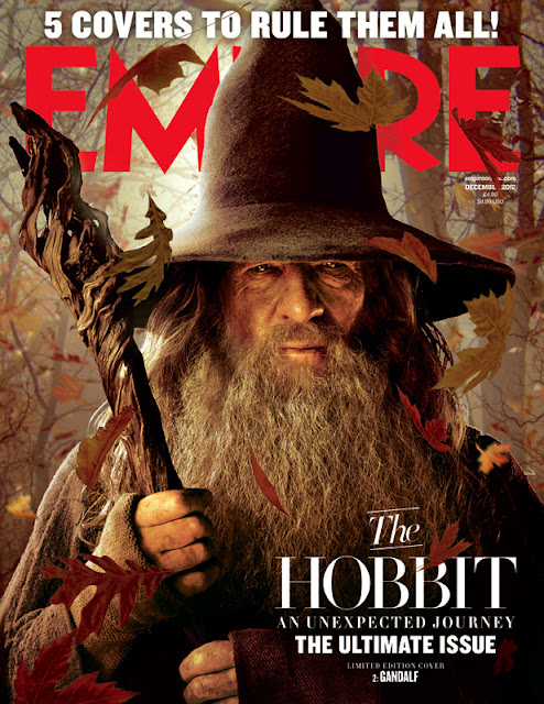 the hobbit an unexpected journey, empire cover, gandulf