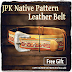 JPK - NATIVE PATTERN LEATHER BELT