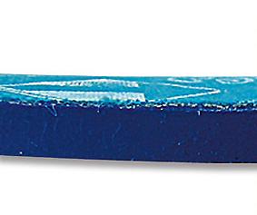 Detalle con la altura de la plantilla de gel azul - DIAN