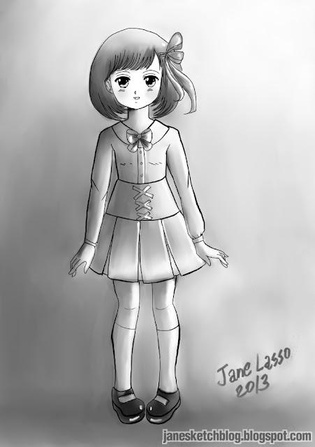 Dibujo de niña manga