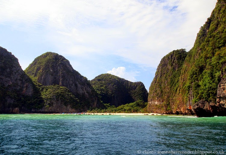 Maya Bay, Thailand - our first glimpse of the beach