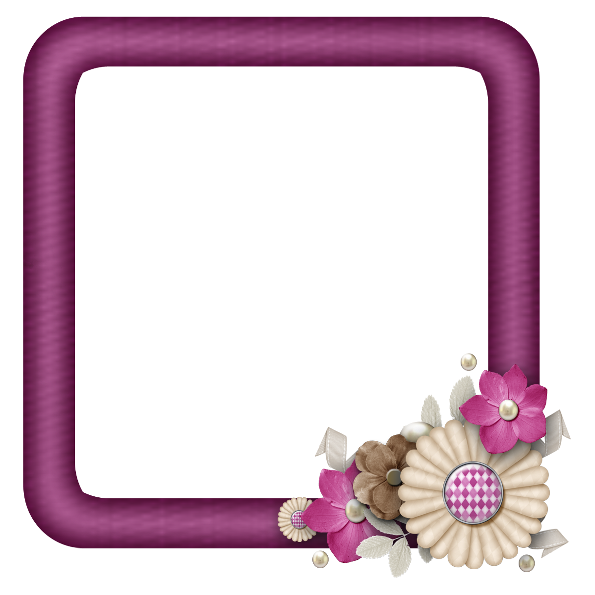 free digital scrapbook element burgundy flower cluster square frames grannyenchantedcom