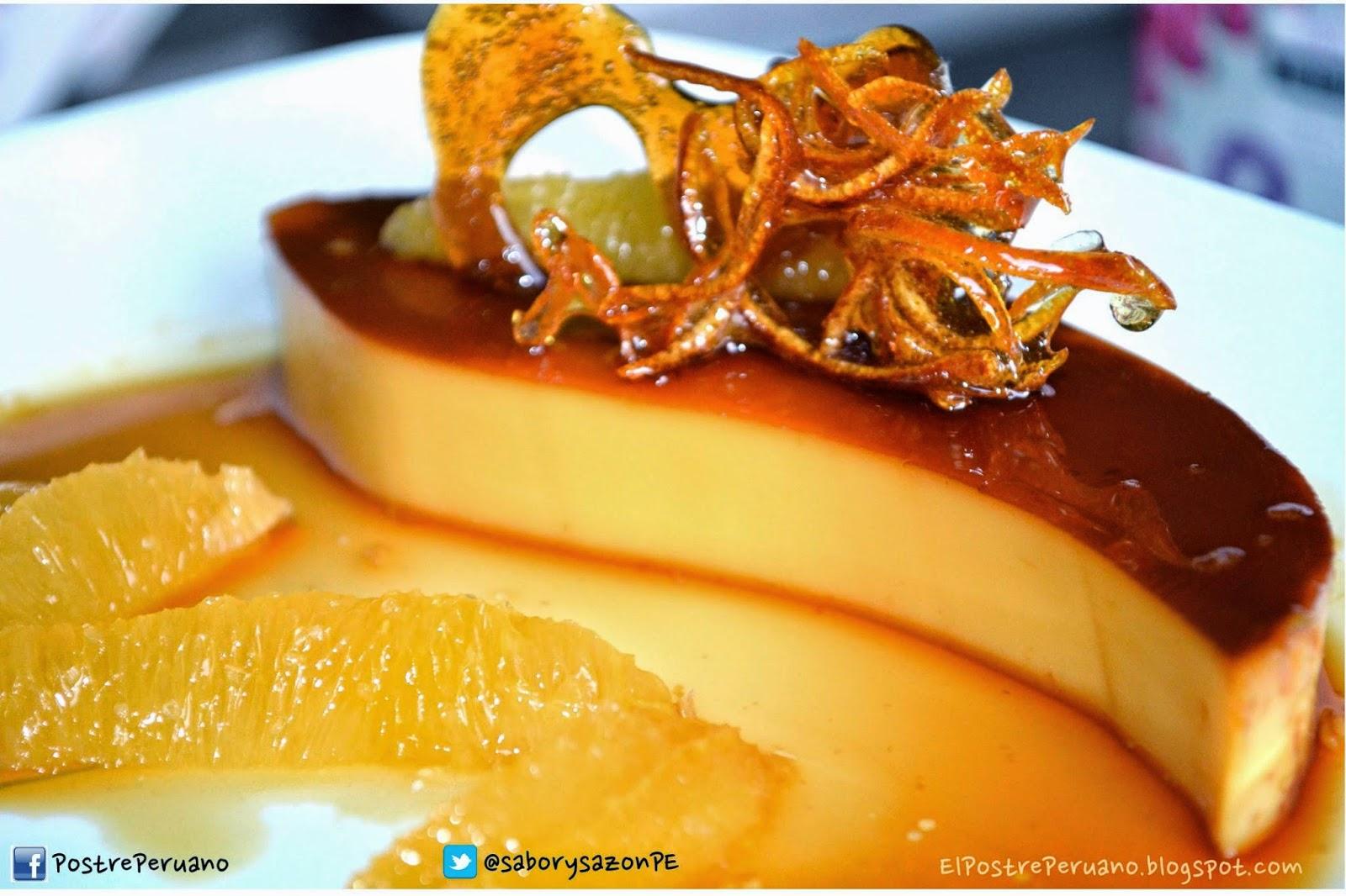 Receta sencilla flan de naranja recipes postres del - Reposteria facil y rapida ...