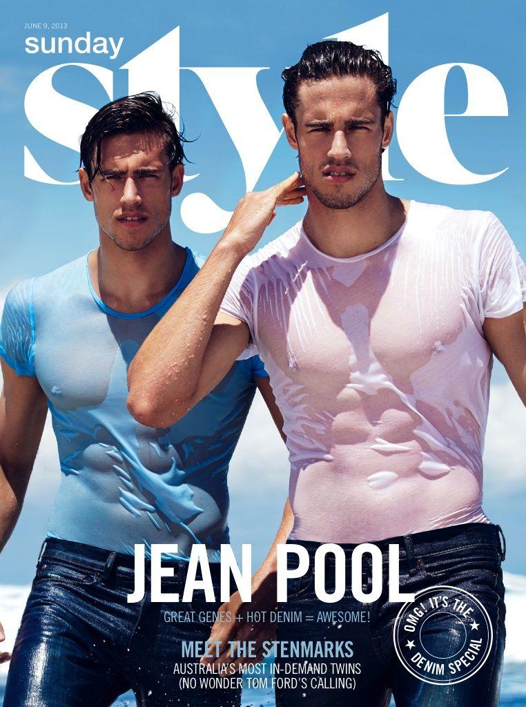 Los Gemelos Jordan Y Zac Stenmark Para Sunday Style Magazine Australia Junio 2013 Male Fashion