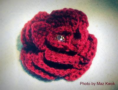 crochet royal rose