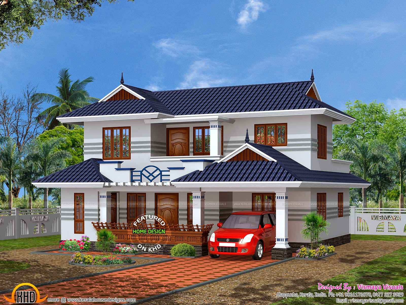 Typical kerala house plan kerala home design and floor plans for Kerala house photos