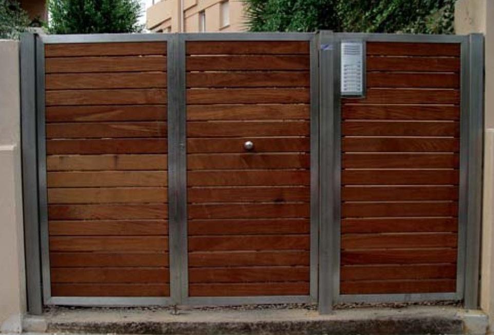 Cerrajeria sotelo y automatismos puertas batientes - Puerta de lamas ...