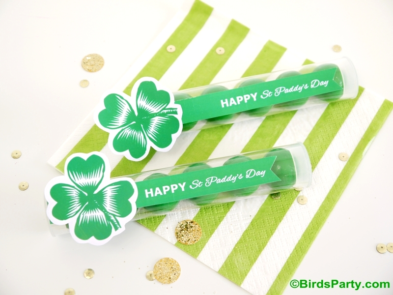 St Patrick's Day Free Printables and Quick DIY Favor