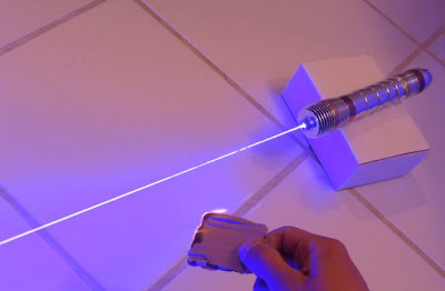 Homemade Lightsaber Burns Through Objects