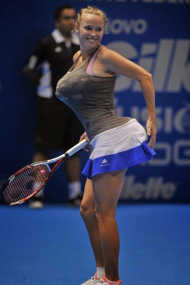 Las tenistas más sexys del mundo, fotos y posturas imposibles, pechos, faldas cortas, culos prietos... Chicas guapas 1x2.