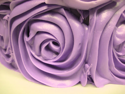 Purple Ombre Rose Cake - Close Up of Roses 3