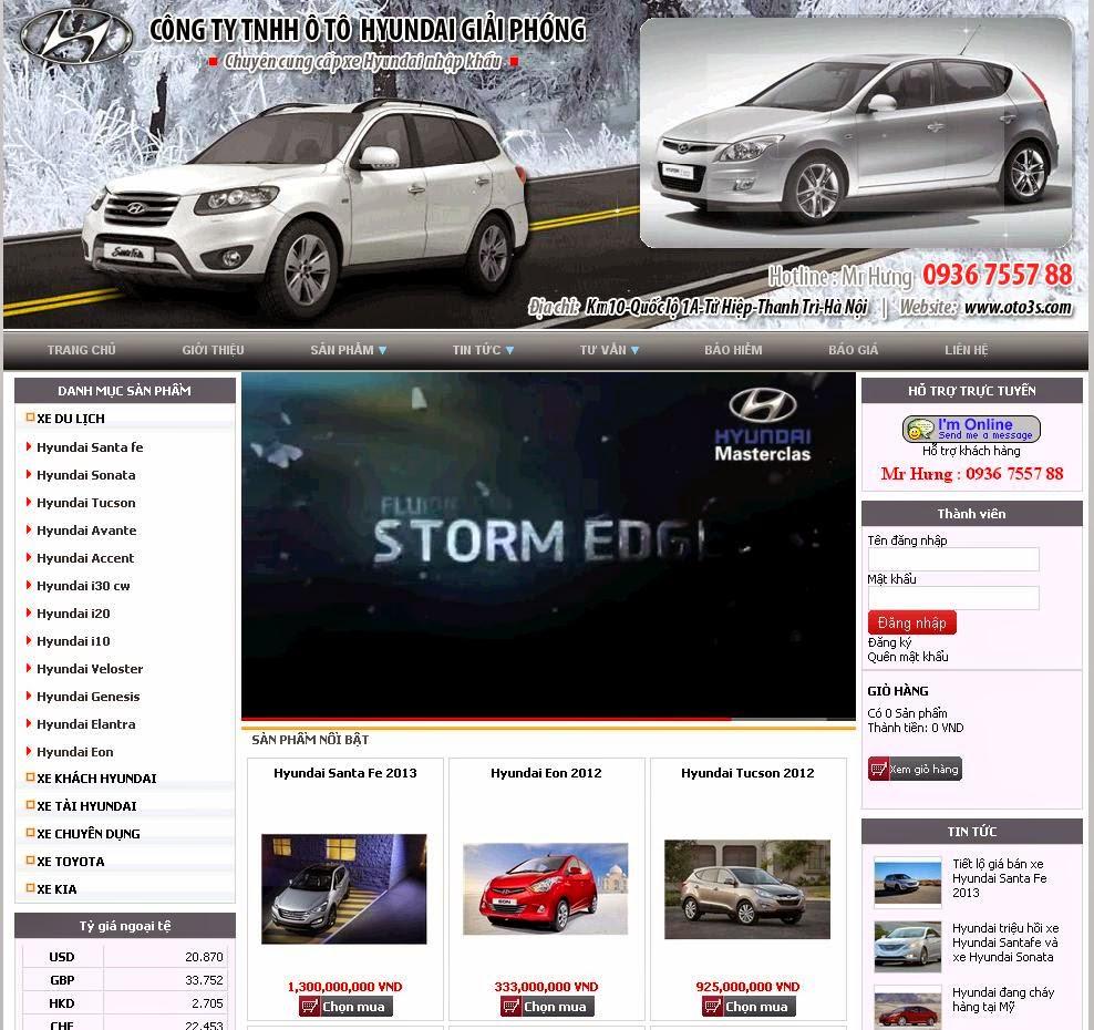 thiết kế web bán hàng ô tô đẹp